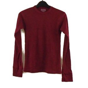 TruActiveWear Thermal Shirt Boys S Burgundy Red